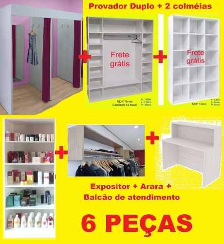 Loja Completa Provador + Colméias + Arara + Balcão- F.gráti*