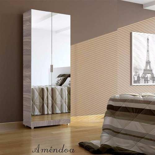 Armário Banheiro Com Espelhos Prateleiras P/ Toalhas Magia Móveis