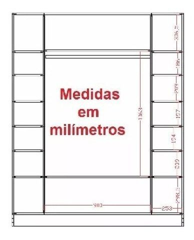Armário Colméia + Cabideiros + Balcão Arara + Atendimento