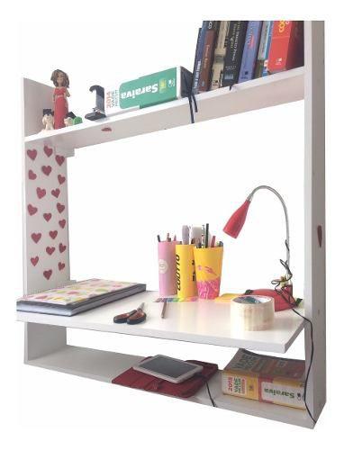Mesa Notebook Suspensa + Armário Com Espelhos