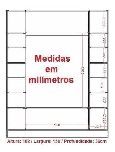Expositor Colméia + Estante + Nichos + 2 Arara + 2 Balcão Arara Magia Móveis