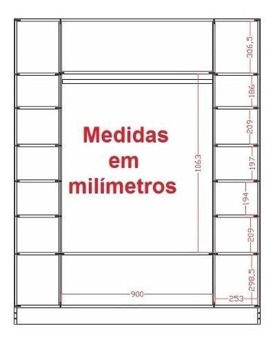 Expositor Colméia Cabideiro Nichos = 3 Peças = Loja Roupas