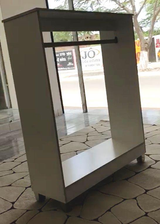 Balcão Cabideiro Arara Pendurar Roupas Loja Closed Carol