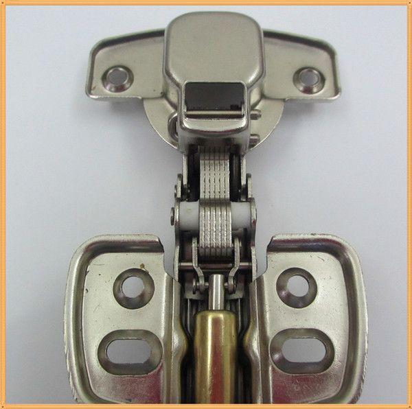 Dobradiça Com Amortecedor e parafusos - 35mm Curva