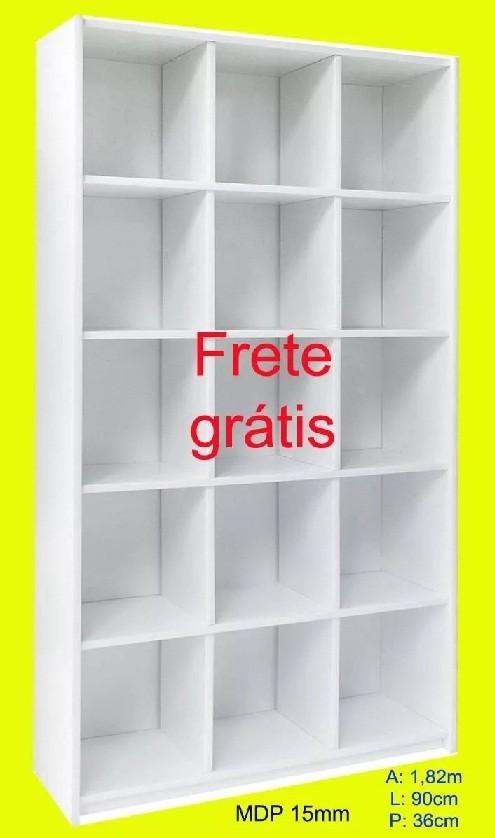 Expositor Armario Nichos loja Bia Branco