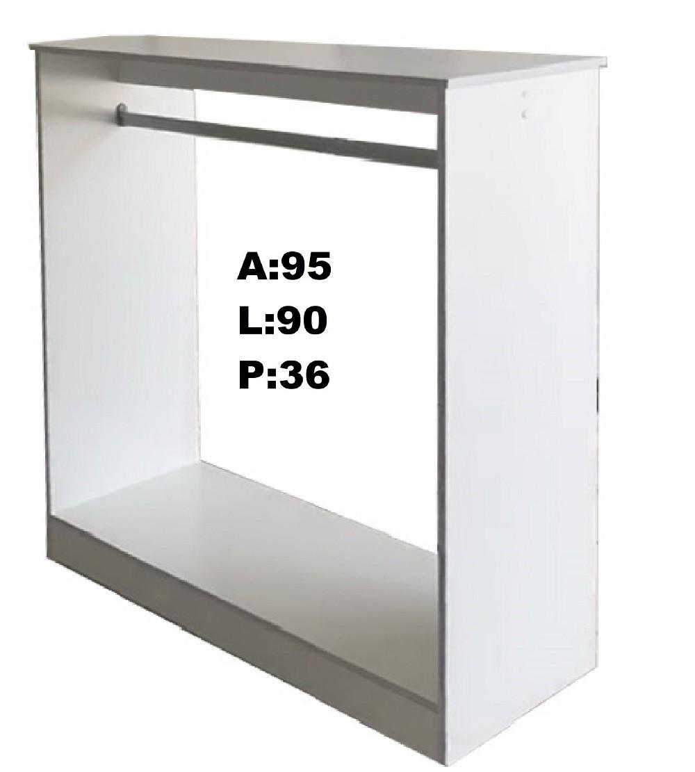 Expositores colméia cabideiro e balcão de arara = 4 peças