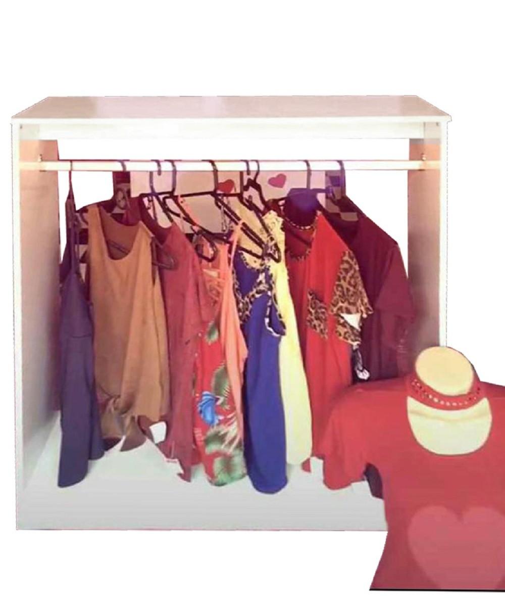Expositores Loja Roupa Closed Araras Magia Móveis 10 peças