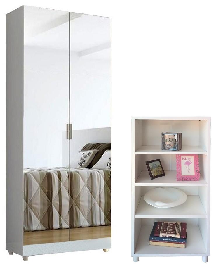 Paneleiro Armário Cozinha Adega + Armário com espelhos Branco