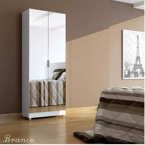 Paneleiro Magia com portas  espelhadas Branco