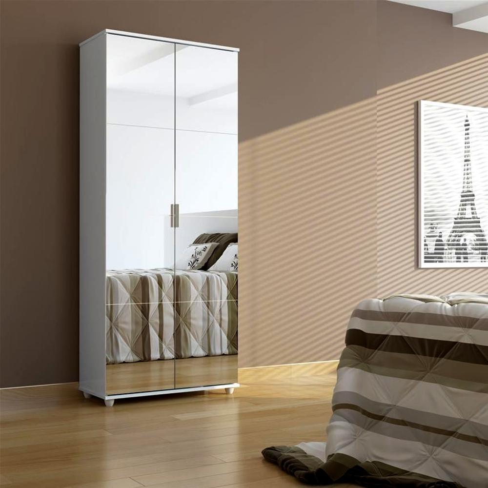 Sapateira com Espelho 2 portas Magia - AMÊNDOA - Muito linda, cheia de prateleiras. Super Promoção! Magia Móveis