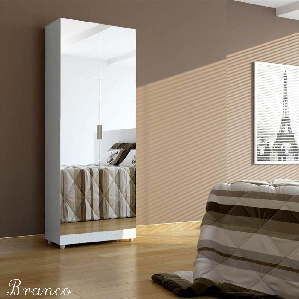 Sapateira com Espelho 2 portas Magia - BRANCA - Muito linda, cheia de prateleiras. Super Promoção! Magia Móveis