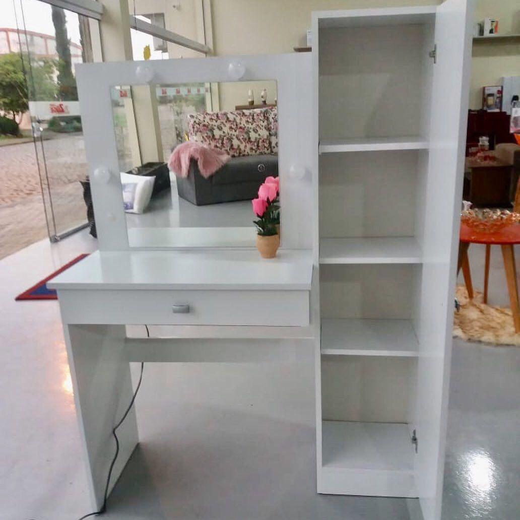 Sapateira Com Espelho + Penteadeira Camarim Luzes E Espelho
