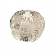Murano bola transparente com gomos 35 cm diâmetro