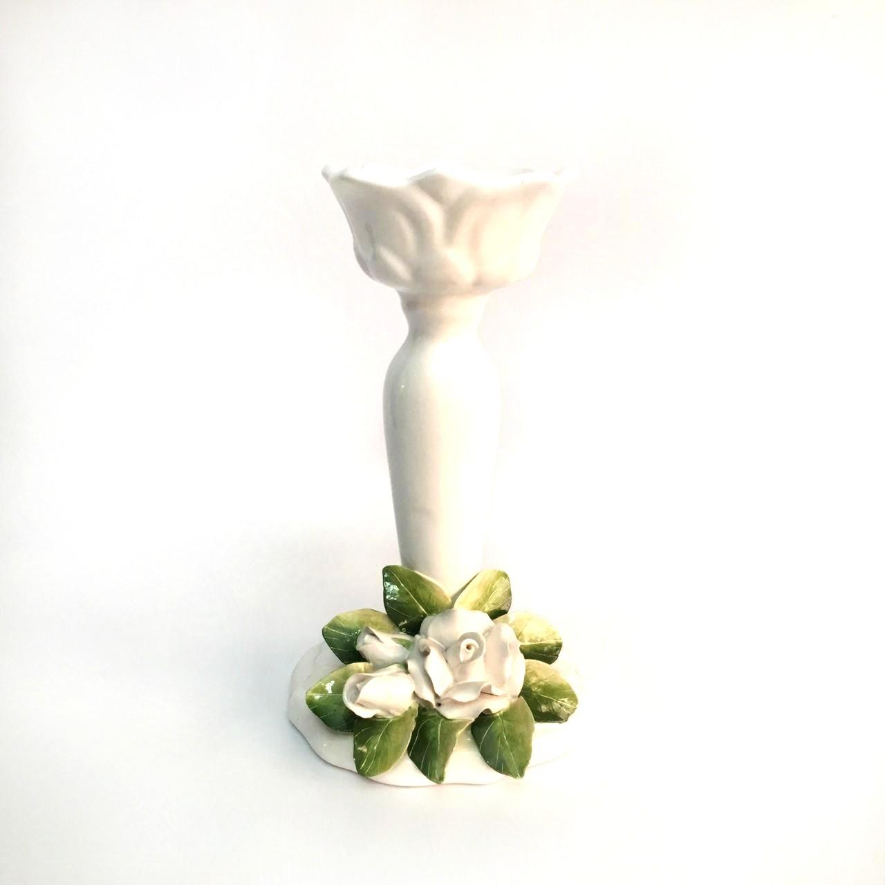 Castical de rosas brancas M 27x16