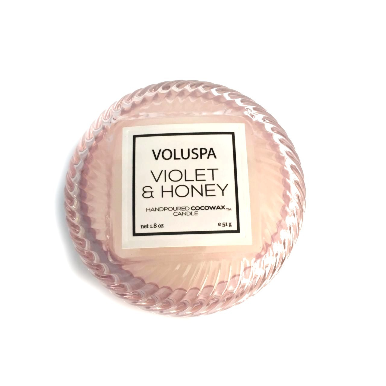 Mini vela VOLUSPA Macaron 15H Violet e Honey