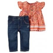 Conjunto Carters Calça Jeans e Bata - paisley collection carters