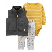 Conjunto Inverno 3 Peças Carter's - Colete Tigre (jaqueta)