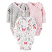 Kit Body Carter´s 3 Peças com fecho lateral - Orlando Baby Girl