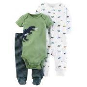 Kit Maternidade Carter´s - Conjunto 3 peças - Dinossauro Green