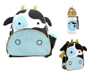 Combo Skip Hop Zoo Vaca - Kit Mochila + Lancheira + Garrafinha -