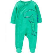 Macacão Pijama Carter´s - Dinosaur Snap-Up