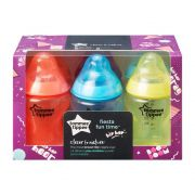 Tommee Tippee Closer to Nature Colour My World Mamadeiras MULTICOLORIDOS 260ml - Kit com 6