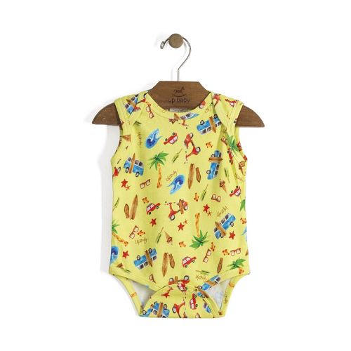 Body Up Baby Sem Manga SURF AMARELO