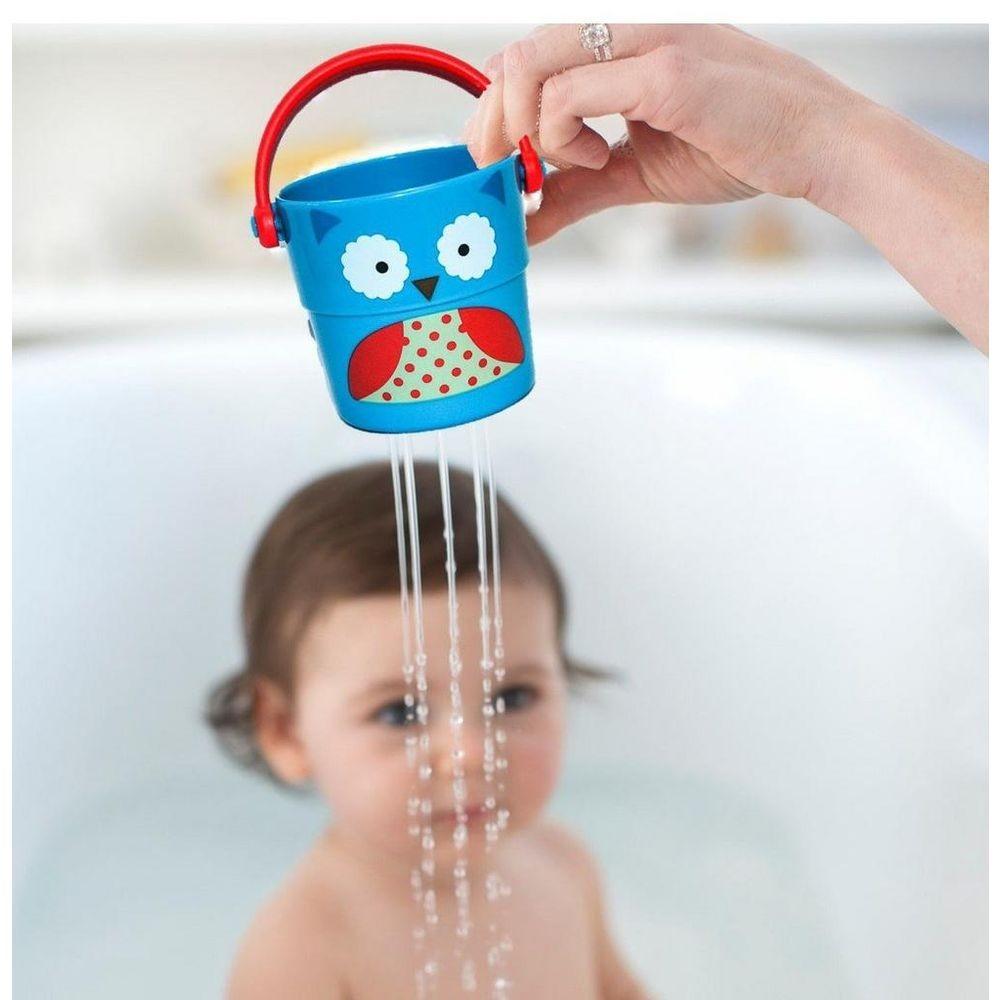 Brinquedo para Diversão no Banho Baldinho Coruja Skip Hop