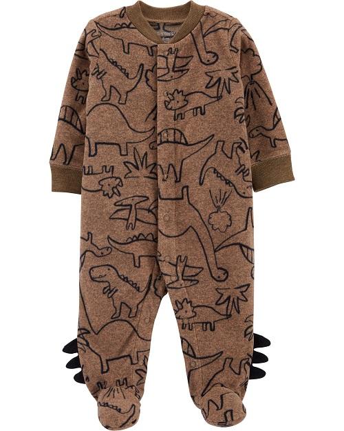 Carters Pijama Fleece - Dino Marrom