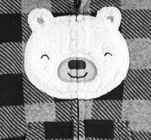 Carters Pijama Fleece - Xadrez Urso