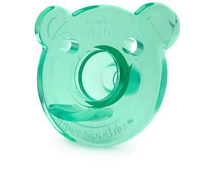 Chupeta Soothie Avent Urso 3+ Pacote com 2 Unidades - Azul e Verde