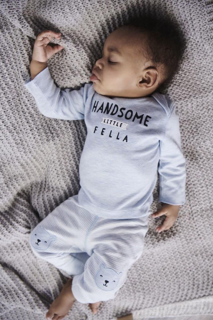 Conjunto 3 peças Carter's Handsome Azul Bebê (TRIO BUMBUM FOFO)