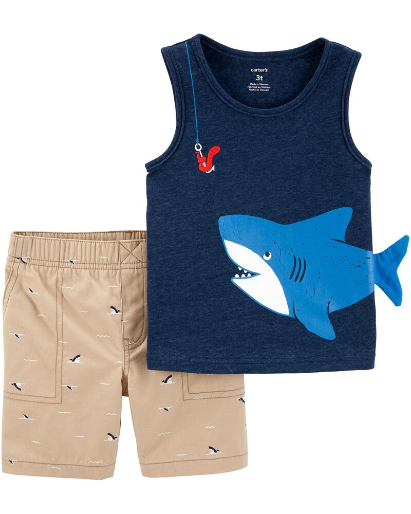Conjunto Carter's 2 peças - short tubarão