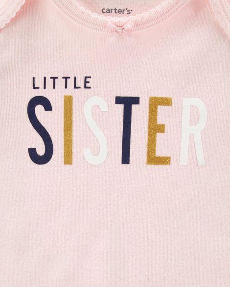 Conjunto Carter's Little Sister (TRIO BUMBUM FOFO 3 PEÇAS)