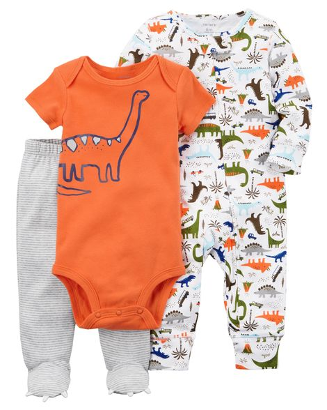 Kit Maternidade Carter´s - Conjunto 3 peças - Dino orange