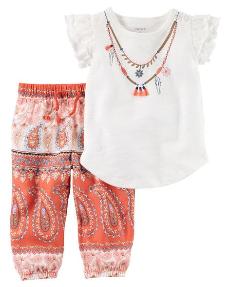 Conjunto Carters Calça e BLUSA - paisley collection carters