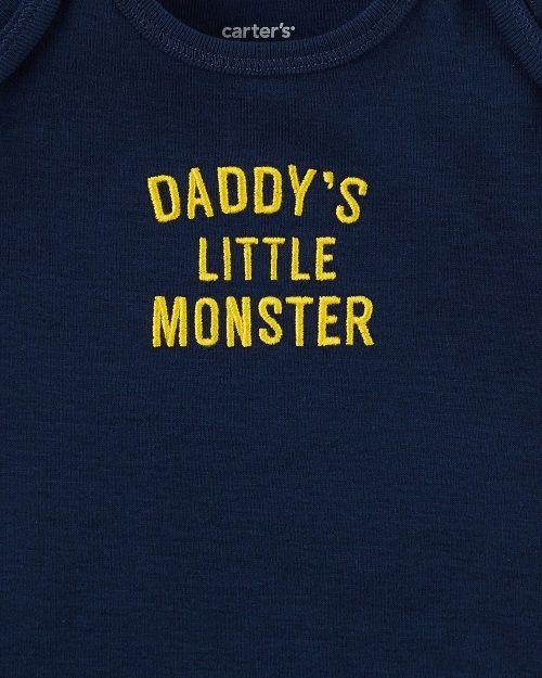 Conjunto Inverno Carter's 3 peças - Jaqueta Daddys Little Monster