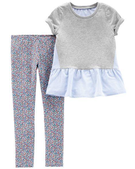 Conjunto Legging OshKosh B´Gosh | Carter´s - Cinza e Floral