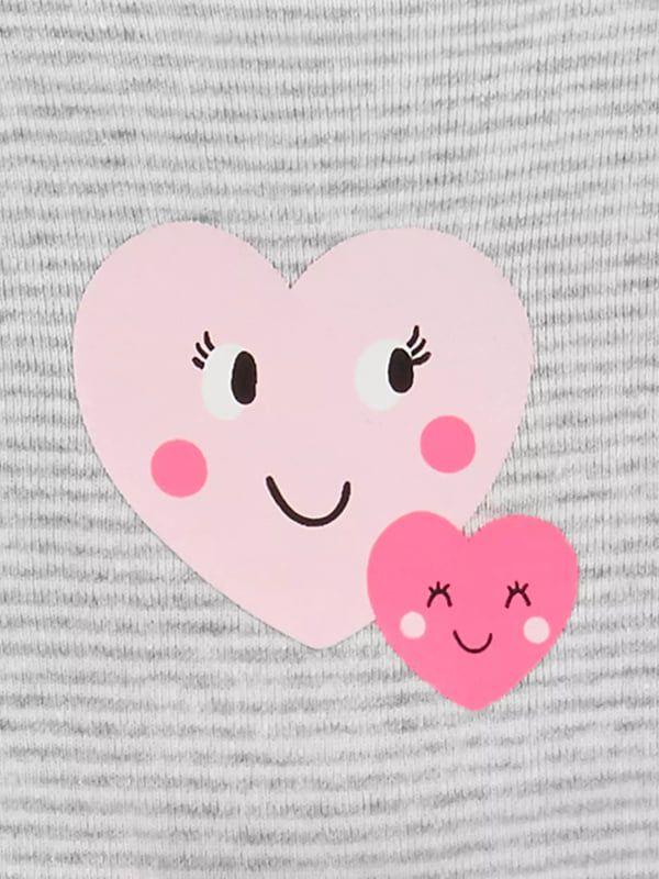 Conjunto Moletom Carter's 3 peças Happy Heart