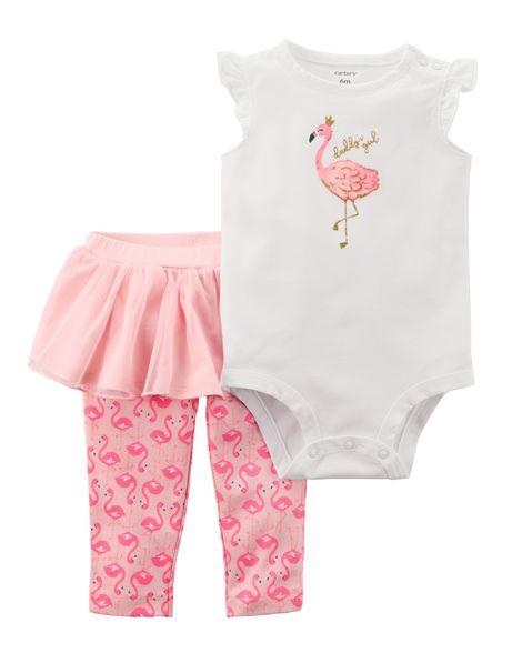Conjunto Tutu Bailarina Carter´s - Flamingo