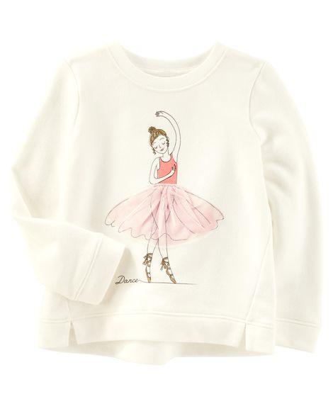 Blusa Moletom (Pullover) Bailarina Tutu Carter´s