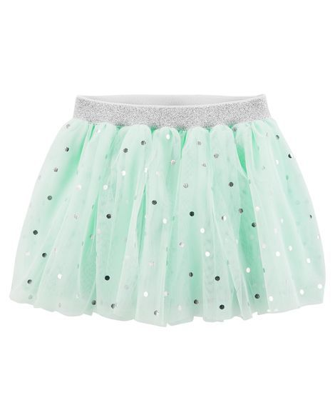 Saia Tutu Bailarina Glitter Verde Carter´s