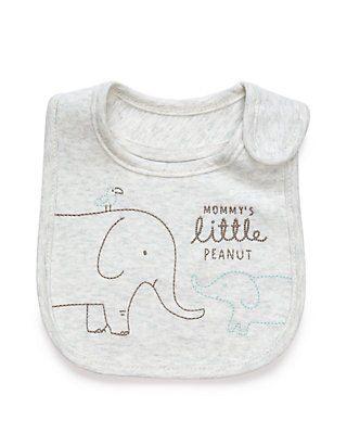 Kit Babador 4 Peças Elefante Peanuts Carter´s