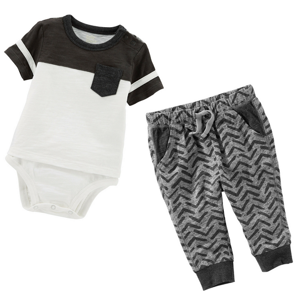 Conjunto Body e Calça - Black and White Oshkosh B'Gosh | Carter´s ***MINI TIGER COLLECTION***