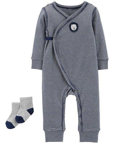 Kit Maternidade Carter´s - Conjunto 2 peças Macacão/ pijama - Leãozinho