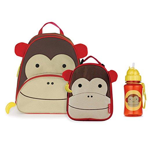 56e302b9a7 Combo Skip Hop Zoo Macaco - Kit Mochila + Lancheira + Garrafinha ...