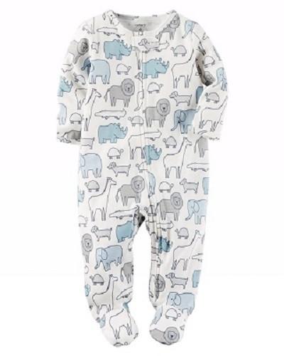 Macacão Carter´s Algodão - Animais Azul - BabyBrands b25971eed43