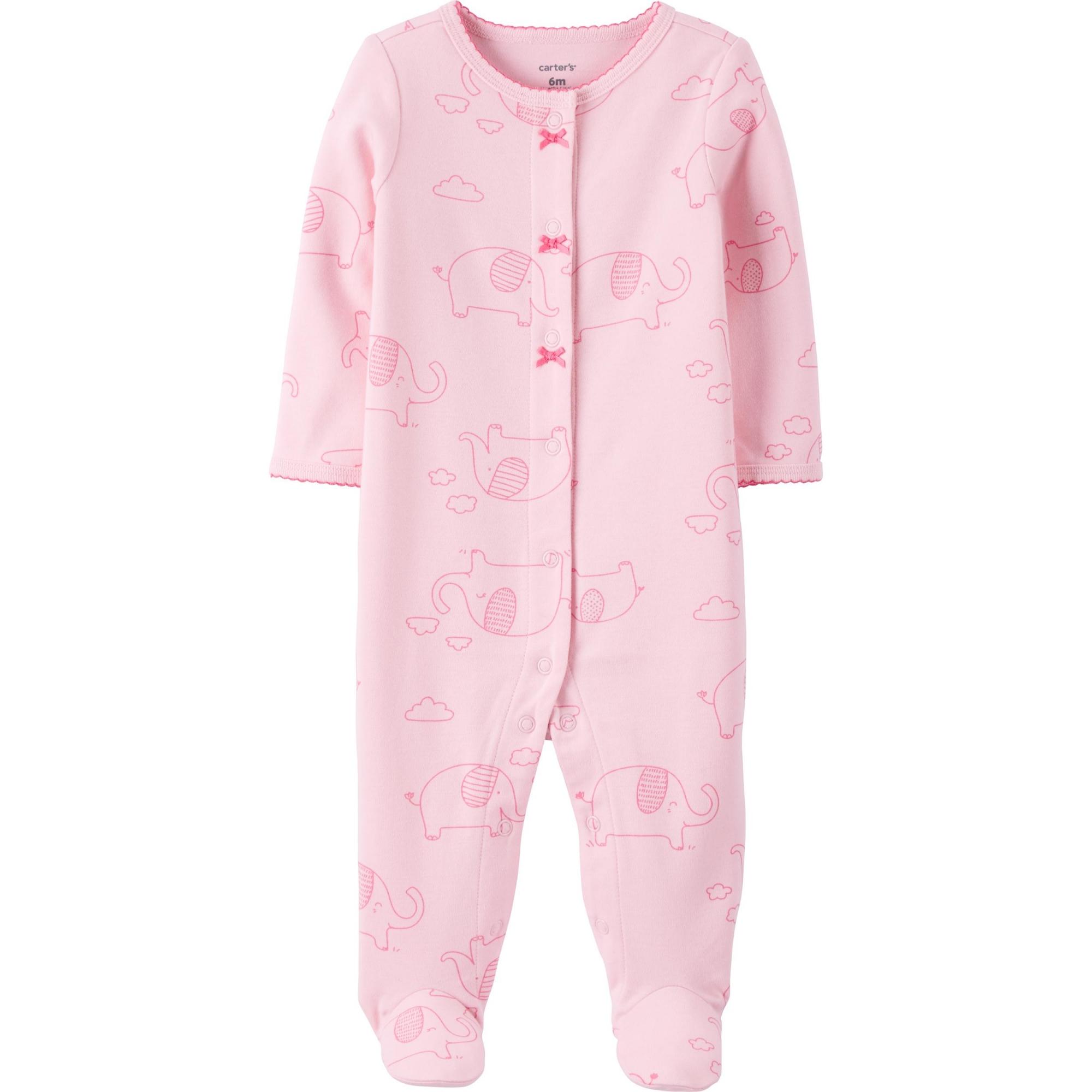 Macacão Pijama Carter´s - Elefantinho Rosa
