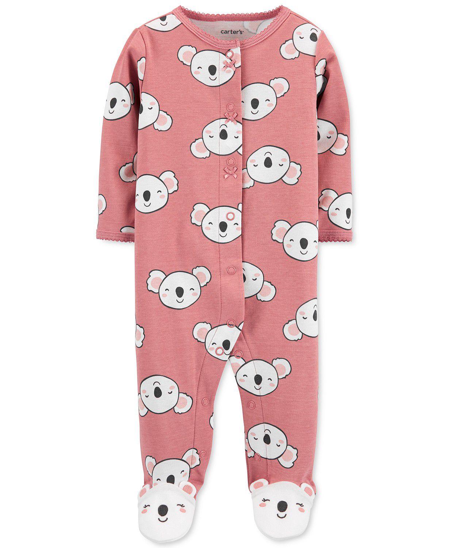 Macacão Pijama Carter´s - Koala Rosa