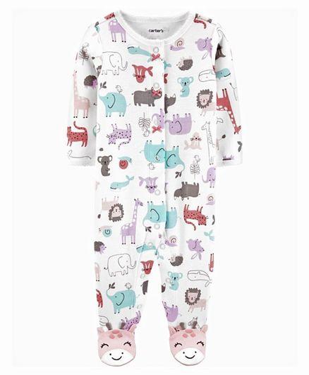 Macacão Pijama Carter´s - Safári Rosa